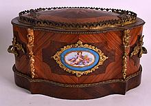 A GOOD MID 19TH CENTURY FRENCH SEVRES PORCELAIN AND KINGWOOD PLANTER AND CO