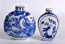 A 19TH CENTURY CHINESE BLUE AND WHITE PORCELAIN SNUFF BOTTLE bearing Yongzh