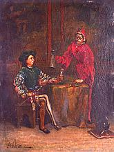 ITALIAN SCHOOL (18TH/19TH CENTURY) Oil on panel 'Red Coat'. Signed Gibbin. 7.5ins x 9.75ins.