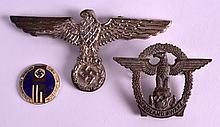 A WWII ENGLISH 'NAZI' PARTY BADGE 'England Awake' together with an enamel badge & another. (3)
