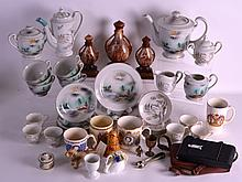 A COLLECTION OF ORIENTAL AND VICTORIAN CERAMICS together with various other articles. (qty)