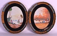Jameson (C1900) Watercolours, Pair, 'Eastern Water