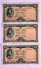 Ireland, Lavery pounds x 3, 1968 & 1969 x 2.