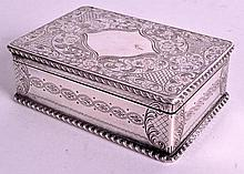 A LARGE MID 19TH CENTURY FRENCH ENGRAVED SNUFF BOX