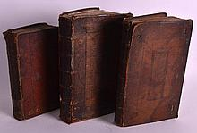 THREE ANTIQUE BOOKS including Elements of Natural