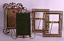 A PAIR OF ARTS AND CRAFTS BRASS PHOTOGRAPH FRAMES