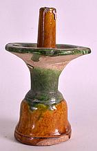 A CHINESE HAN DYNASTY PRICKET CANDLESTICK with San