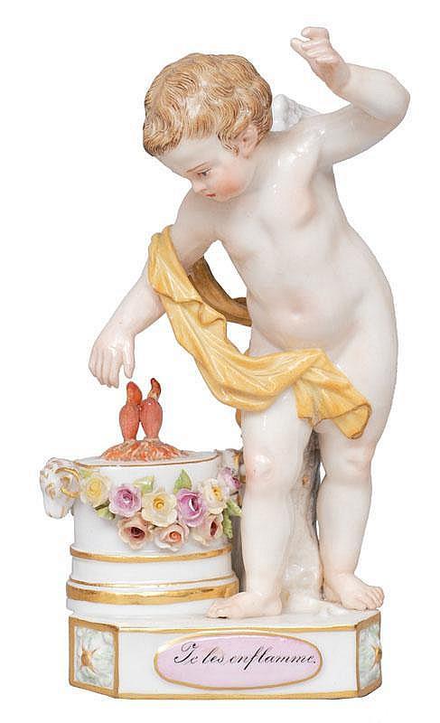 Acier, Michael Victor Versailles 1736 - Dresden 1799  A motto child 'Je les enflamme'