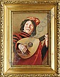 A porcelain plaque of a man playing the lute after, Frans Hals, Click for value