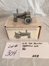 JD 730 Pewter Tractor Historic collection  1/64