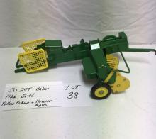 JD 24T Baler, 1966 Ertl, Yellow pickup & thrower #545