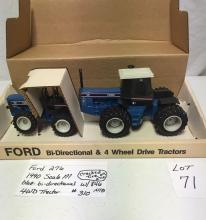 Ford 276 1990 Scale M blue bi-directional 4wd tractor w/846 w/cracked tire #310