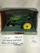 JD B  1996 Ertl   1937 Model B, Eight Bolt, Tractor, NF, unstyled #5904DO