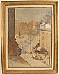 ? Sandler (?), unknown, A New York City Square with Fountain, oil on canvas,