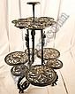 A 19th Three-tier Cast Iron Plant Stand,