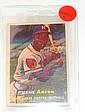 1957 TOPPS #20 HANK AARON