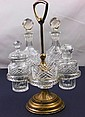 French Cut Glass Condiment Set