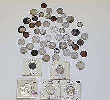 BAG OF SILVER AND MISC. COINS