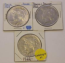 LOT OF PEACE DOLLARS
