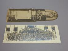 Long Military Photo Postcard & Bullet WWI Postcard