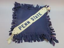 Penn State Pillow Sham with Sewn on Letters