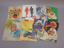 (8) Villanova Football Programs 1962-1965