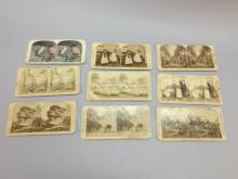 (9) Stereoview Cards, Japan, Hawaii, African American