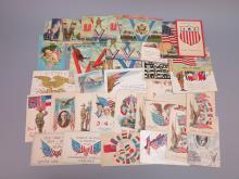 (40) Patriotic Postcards, WWI, WWII, Spanish