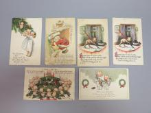 (6) Kewpie Dolls Christmas Postcards