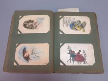 Album of (87) Postcards with Ladies