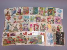 (60) Flower Motif Postcards