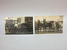 C.E. Steel Peoples Dairy & Cloverdale Dairy Photo Postcards