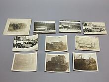 (10) Photographs of Horse Drawn & Early Auto School Buses