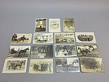 (15) Photo Postcards of People and Carriages