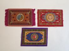 (3) College & University Tobacco Blankets with Seal