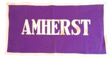 Amherst College Felt Rectangular Banner, Stitched Letters