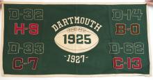Dartmouth College 1925 & 1927 Football Felt Banner