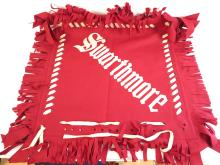 Swarthmore College Felt Pillow Sham, Sewn on Letters
