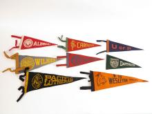 Lot of 8 College Felt Pennants, Wilkes, Duquesne