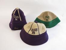 (3) Vintage High School Sports Felt Hats