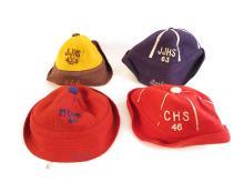 (4) Vintage High School Sports Felt Hats