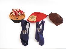 (5) Vintage High School Hats & Ties