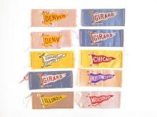 (10) S24 College Pennant Tobacco Silks