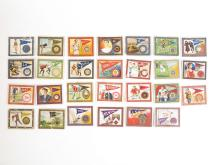 (27) T51 Murad College Series Tobacco Cards