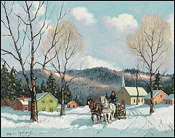 Bruce Mitchell 1912 - Canadian oil on canvas