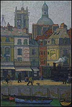 Charles Ginner 1878 - 1952 British oil on canvas Le Quai Duquesne, Dieppe