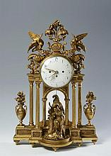 CLASSICIST TABLE CLOCK FROM THE WORKSHOP OF J. M. PLATZER