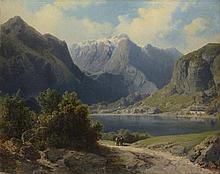 AUGUST BEDRICH PIEPENHAGEN (1791-1868) AN ALPEN LAKE BETWEEN MOUNTAINS