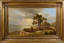 ADOLF CHWALA (1836 - 1900) LANDSCAPE WITH A LAKE
