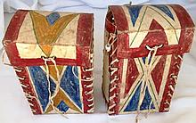 Two Sioux Parfleche Boxes
